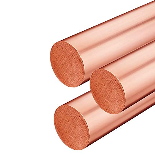 Online Metal Supply C110 Copper Round Rod, 0.313 (5/16 inch) x 48 inches (3 Pack)