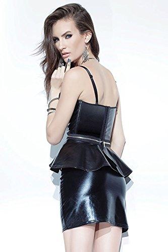 Mini jupe effet brillant en PVC pour femmes Taille 40