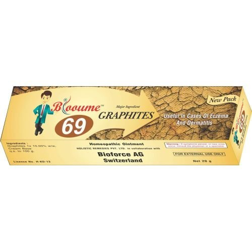Blooume 69 Graphites Salbe Cream Homeopathic Treatment for Eczema, Dermatitis 20g Lots of 3 (Graphites Cream)