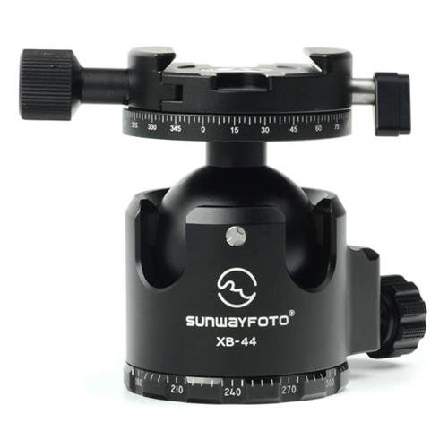 SUNWAYFOTO XB-44DDHX Superior Low-Profile Ballhead with Panning Clamp, 88.18lbs Capacity