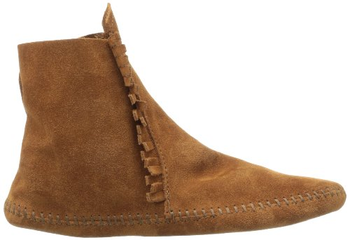 Two Button para Botas Brown Marrón Mocasin Minnetonka Mujer 5qx6PqdF