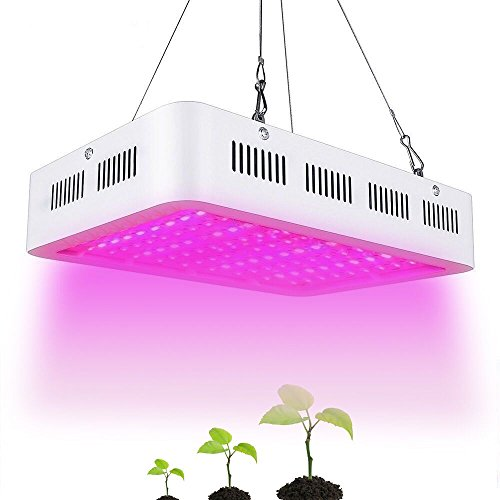 Docooler 1000W Full Spectrum LED Grow Light 100LEDs 89676LM Plant Hydroponic Lamp for Greenhouse Indoor Garden