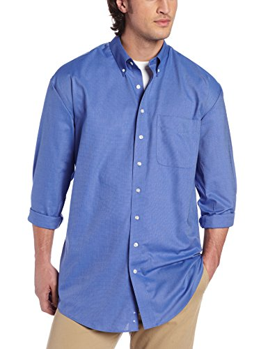 Cutter & Buck Men's Big-Tall Long Sleeve Epic Easy Care Nailshead Shirt, French Blue, 3X-Large/Tall