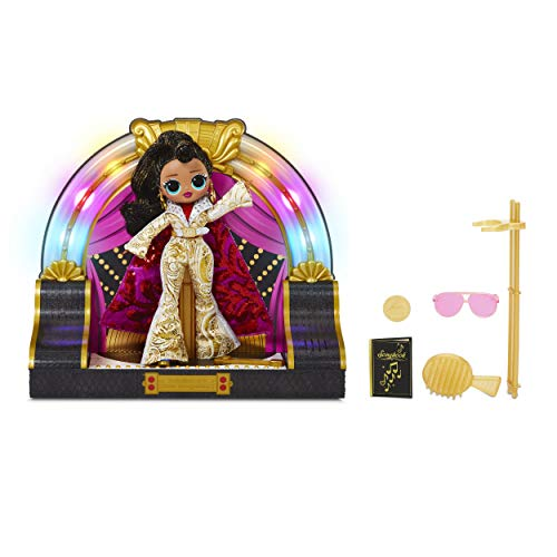 LOL Surprise! OMG Remix 2020 Collector Edition Jukebox B.B. with Token-Triggered Music, Colorful Lights, White and Gold Classic Rock Outfit, Flashy Accessories   Kid Girls 4-15 Years Old