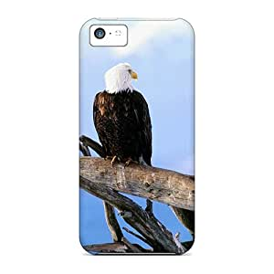 Durable Defender Case For Iphone 5c Tpu Cover(group Of Wild Bald Eagles)