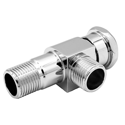 HANGHANS Angle Valve,Shut Off Water Angle Stop Valve for Faucet and Toilet, Wall Mounted, G1/2 Commercial 1/2¡± IPS Inlet and Outlet,Polished Chrome