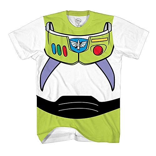Buzz Lightyear Tee - Disney Toy Story Buzz Lightyear Astronaut Costume Adult T-Shirt (Medium, Buzz)