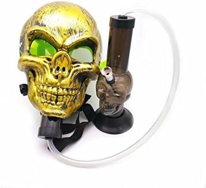 TUTUN Tubo de plástico acrílico máscara de goma negra para fumar
