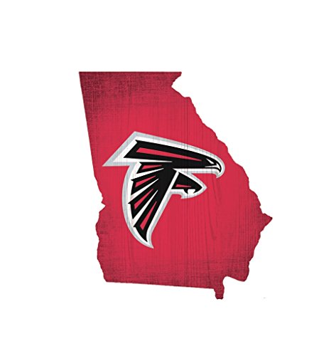 Atlanta Falcons Rocks - Atlanta Falcons Wood Sign 12 Inch State Shape Design