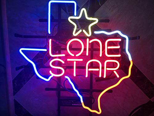 New Texas Lone Star Real Glass Neon Light Sign Beer Bar Pub Sign L28