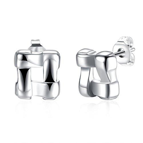 Silver Simple Stud Earrings Ladies Earrings Earrings
