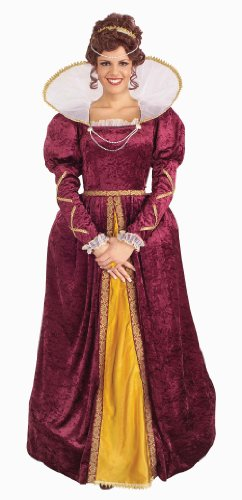 Forum Queen Elizabeth Dress and Crown, Purple, One Size Costume (Costume Queen)