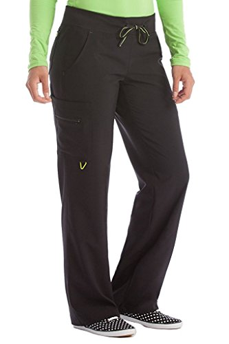 Med Couture Women's 'Activate' Transformer Scrub Pant, Black, Medium Tall