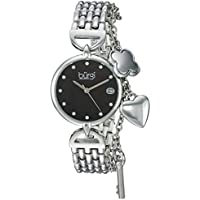 Burgi Women's Quartz Stainless Steel Casual Watch, Color:Silver-Toned (Model: BUR172SSB)