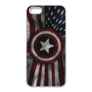 Comics Captain America USA Flag iPhone 4 4s Cell Phone Case White gift zhm004-9266738