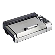 "Kitchener 55023006 Automatic Fresh Food Saver Commercial Grade Vacuum Sealer with Starter Roll, 11"" x 16"", Silver/Black"