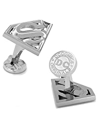 DC Comics Superman Cufflinks Silver Superhero in Gift Box