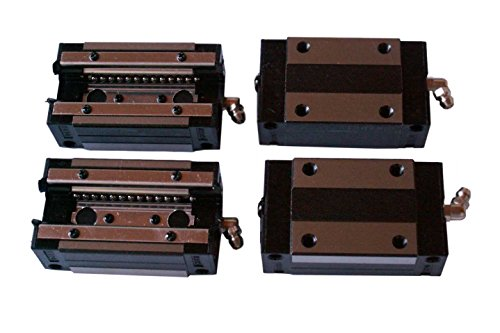CNC Set 20-500mm 2x Linear Guideway Rail 4x Square type carriage bearing block