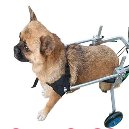 LKKSP Tamaño para Perro Carrito de Acero Inoxidable Mascota/Gato Perro Silla de Ruedas Rehabilitación de Patas traseras para Perros discapacitados: ...