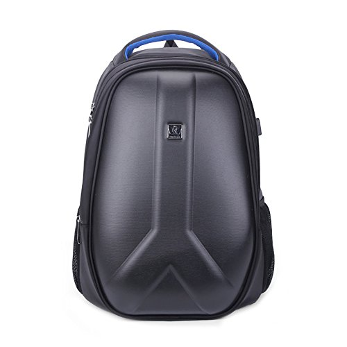 Ultrafun Hard Shell Laptop Backpack Business Travel Bag with USB Charging Port (Black)