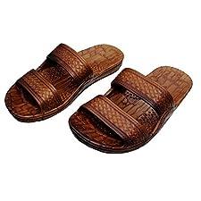31b67fb6943 Imperial Sandals Hawaii Hawaii Brown and Black Jesus Sandals (Small Kid Big  Kid)