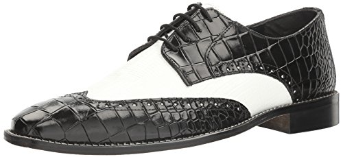 Stacy Adams Men's Giordano Oxford, Black/White, 13 M US (Black And White Stacy Adams Shoes)