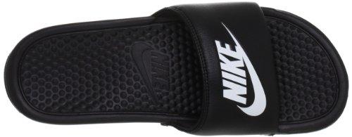 Tongs de plage/piscine Nike Benassi Jdi pour homme - - noir/blanc,
