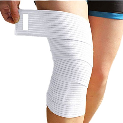 "Sportsz Knee Ankle Elbow Arm Wrist Support Band, 70"" Heavy Duty Compression Strap, Sport Bandage For Joint Support, Promotes Comfort And Injury Prevention, Ideal For Athletes & Gym Rats, White"