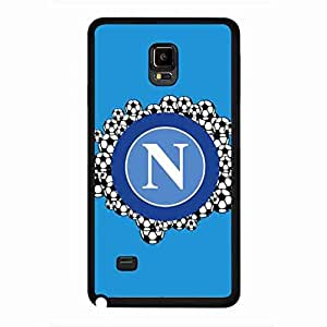 Samsung Galaxy Note 4 Carcasa De Telefono TPU Frame Ultra Clear Hard Plastic Back Funda FC Napoli Carcasa De Telefono