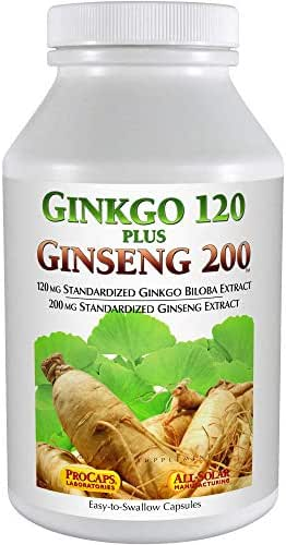 Andrew Lessman Ginkgo 120 Plus Ginseng 200 (30 Capsules)