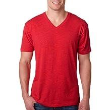 Next Level Mens Tri-Blend V-Neck 6040-Vintage Red-X-Large