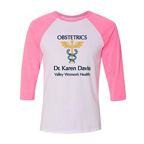 - Personalized Custom Profession Obstetrics Women's Health Cotton/Polyester 3/4 Sleeve Crewneck Boys-Girls T-Shirt American Apparel - White Pink