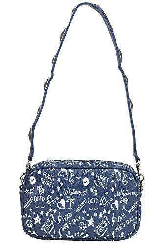 Mia Bag Borsa A Spalla Donna MCGLBRE03127E Ecopelle Blu