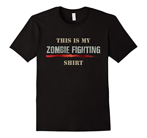 Mens This is My Zombie Fighting Graphic T-Shirt Halloween Costume Small Black