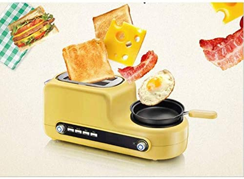 Kitchen broodrooster, roestvrij staal, broodrek, spiegelei, met ontdooifunctie en opwarmfunctie, uittrekbare kruimellade