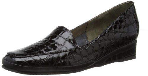 Van Dal Womens Verona III Loafers Black Croc UAxCQev