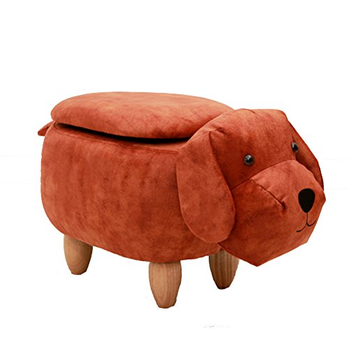 Dog Footstool - HM&DX Upholstered Storage ottoman,Animal dog Ride-on Footstool Footrest stool Coffee table Sofa Entrance bench Living room-D