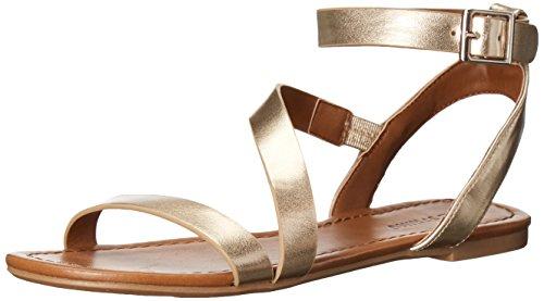 Kalla Det Våren Womens Agroerwen Gladiator Sandal Guld