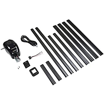 Lippert Components 329251 Black Solera Manual Pull Style to Power Awning Conversion Kit