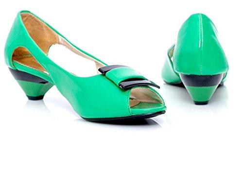Sandalias 34 Del Green Trabajo Pescados Compras Colores Múltiples Las Antideslizante Hueco Hebilla Desgaste 3cm Xie Boca Permeabilidad Señoras De Los 38 La Cómoda RqRdF