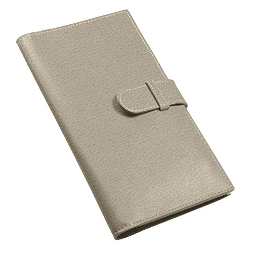 wallet Lucrin Light Light Granulated Lucrin Travel Leather Taupe Taupe Travel qwv8tI