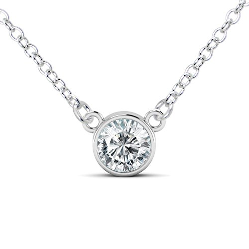 Bezel Necklace Solitaire - 16