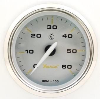 Faria One Size 39004 Kronos Tachometer 6000Rpm by Faria