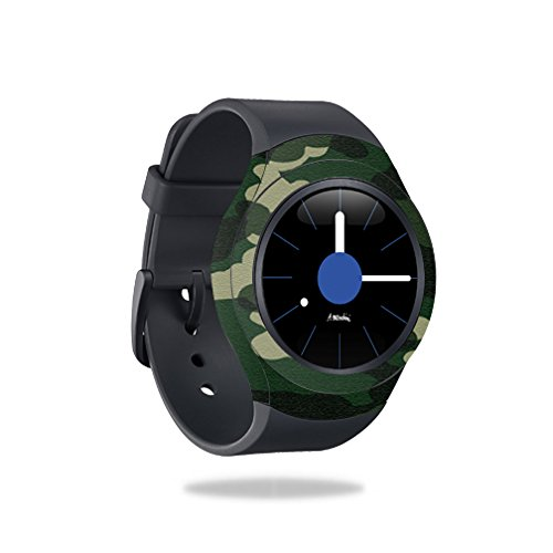 MightySkins Skin Compatible with Samsung Gear S2 Smart Watch Cover wrap Sticker Skins Green Camo by MightySkins