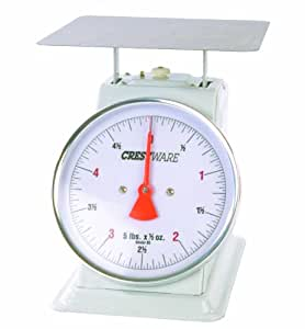 Crestware Heavy Duty Scale 6-Inch Dial Face, 25-Pound by 2-Ounce Scale with Rotating Dial