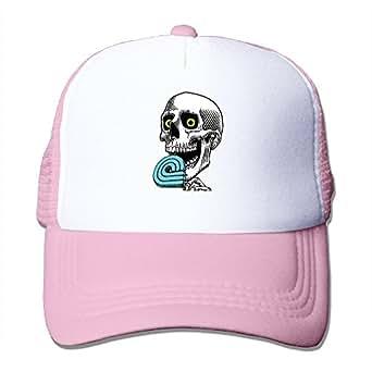 cool powell skate skull trucker cap baseball