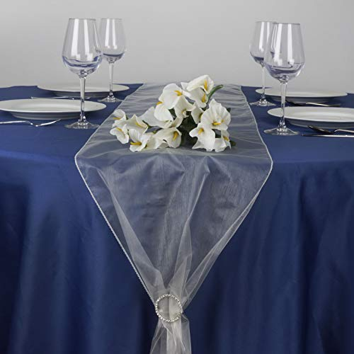 (Mikash 12 pcs 14x 108 Sheer Organza Table Top Runners Wedding Party Decorations Sale | Model WDDNGDCRTN - 14143 |)