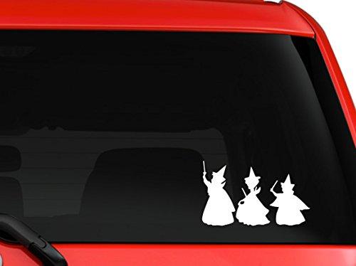 Mono Decals Disney Sleeping Beauty Fairy Godmothers Flora, Fauna and Merryweather car Truck Window Laptop MacBook Decal Sticker 6