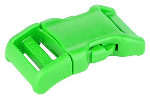 YKK | 3/4 Inch Contoured Side Release Plastic Buckle | 8 Color Choices (Hot Green, 10 ()