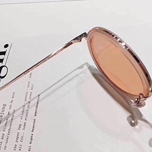 4cc22b16628e New Gentle man or Women Monster eyeware V brand The Whip oc2 Gold  sunglasses for Gentle monster sunglasses -Clear orange flat orange lensess   Amazon.co.uk  ...